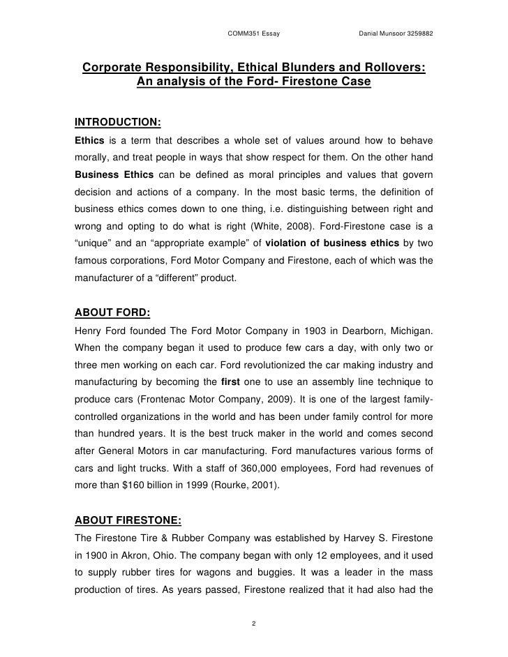firestone and ford Ford and firestone's tire recall: the costliest information gap in history on august 9, 2000, bridgestone/firestone incannounced it would recall more than 65 million tires, most of which had been mounted as original equipment on ford motor co explorers and other ford light trucks.