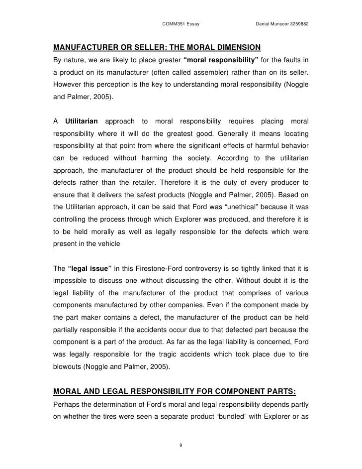 Responsibility essays