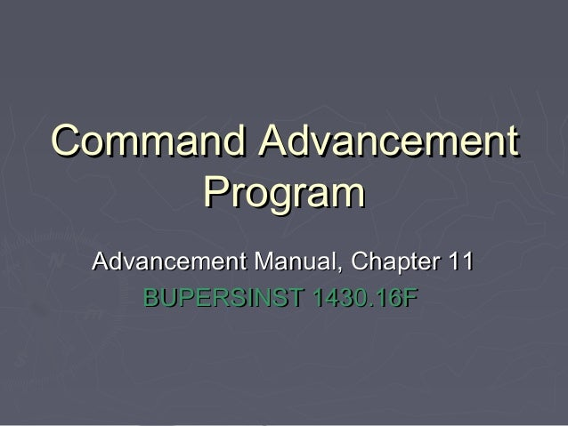 Command advancement program