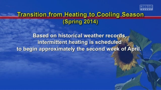 Based on historical weather records,Based on historical weather records, intermittent heating is scheduledintermittent hea...
