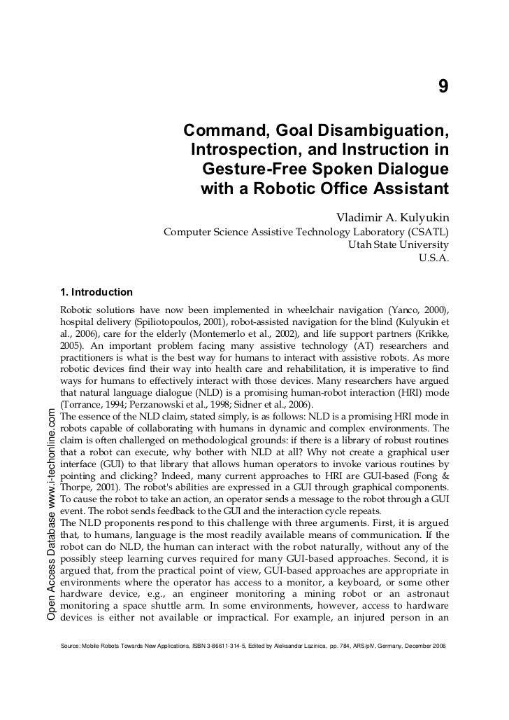 9                                                                                        Command, Goal Disambiguation,    ...