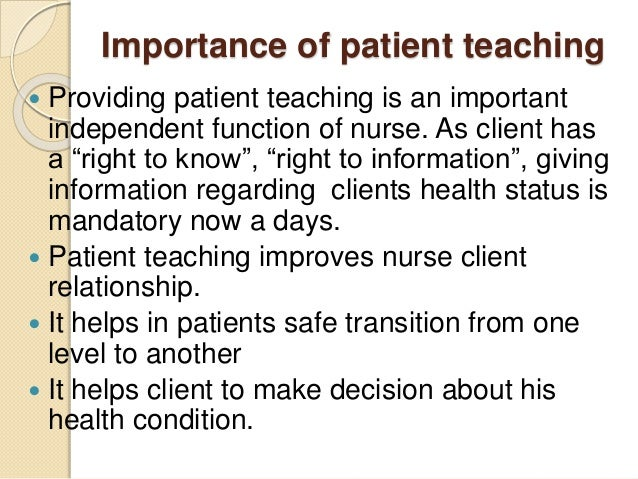 importance of the nurse patient relationship in delivering care Boundaries in the nurse-client relationship  at times, a nurse must care for clients who are family or friends 5 when possible, overall responsibility for care is transferred to another health care provider  misconduct involving sexual intercourse or other forms of physical sexual relations between a registrant and a patient, touching.