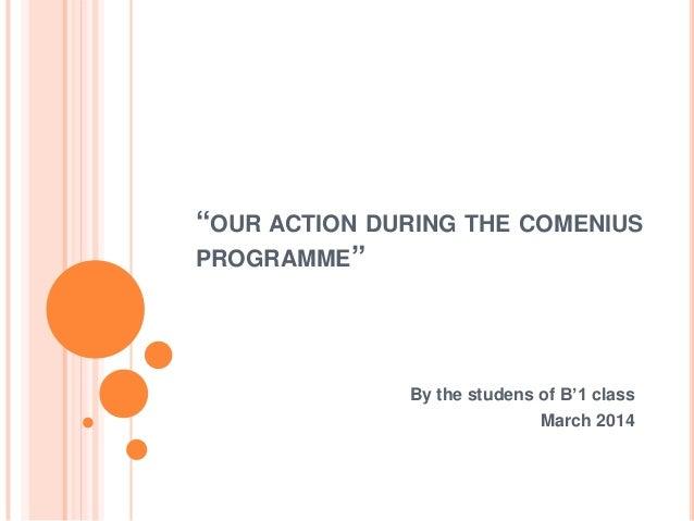 Comenius actions-B1