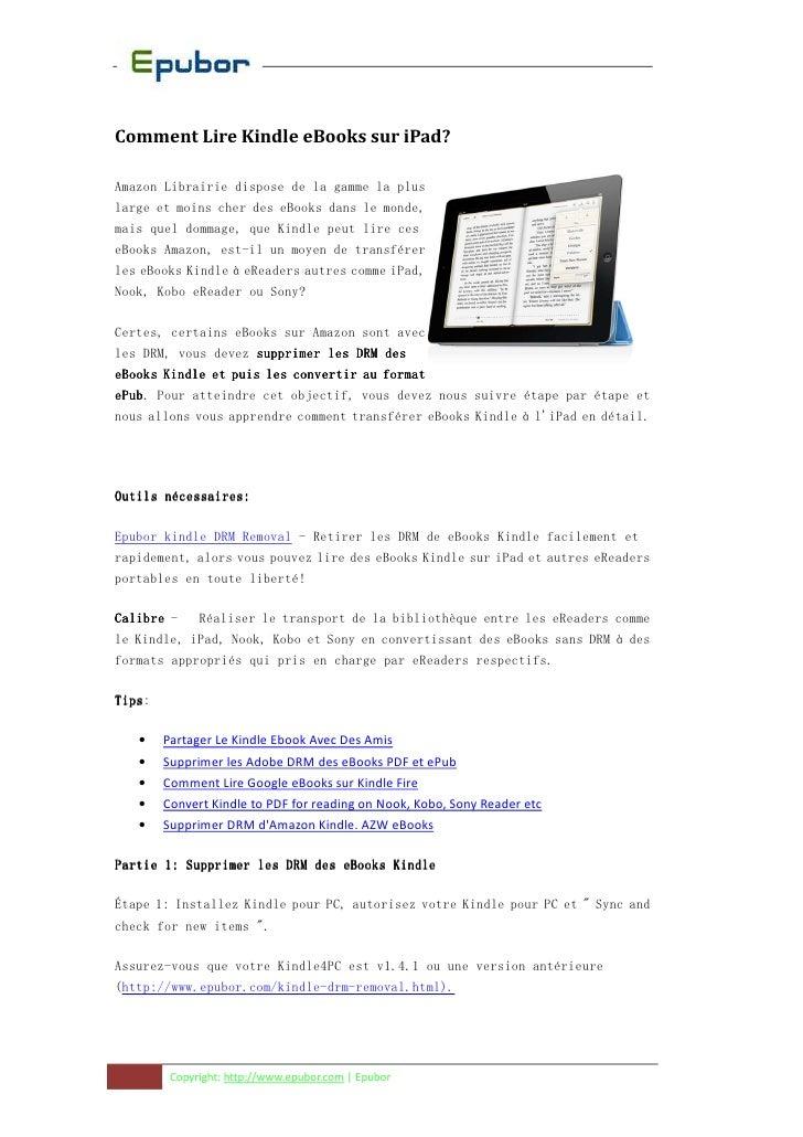Comment Lire Kindle eBooks sur iPad?Amazon Librairie dispose de la gamme la pluslarge et moins cher des eBooks dans le mon...