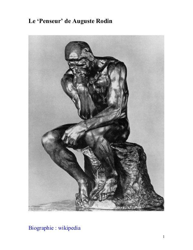Le 'Penseur' de Auguste RodinBiographie : wikipedia1