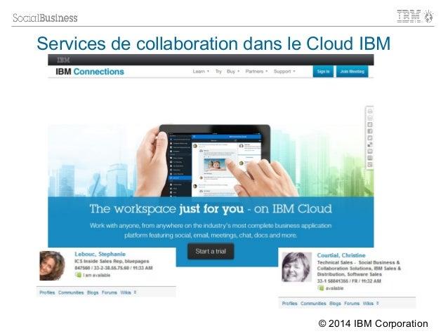 IBM CONFIDENTIAL | © 2012 IBM Corporation Services de collaboration dans le Cloud IBM © 2014 IBM Corporation