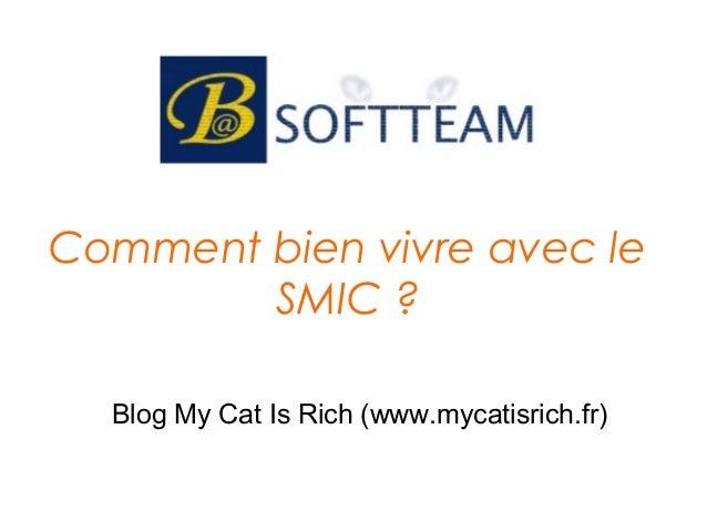 Comment bien vivre avec le SMIC ? Blog My Cat Is Rich (www.mycatisrich.fr)