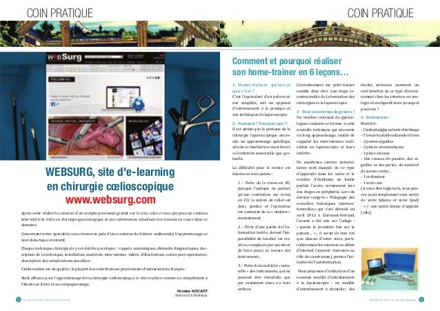 "COIN PRATIQUE COIN PRATIQUE  WEBSURG, site d'e-learning  en chirurgie coelioscopique  www.websurg.com  '""°•ƒ˜'‹""""±ƒŽ‹•±Žƒ…..."