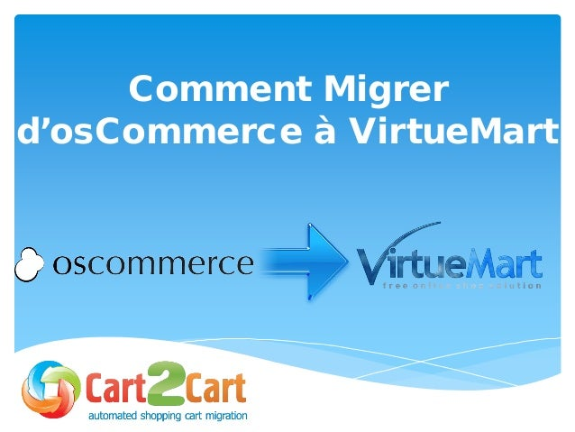 Comment Migrer d'osCommerce à VirtueMart