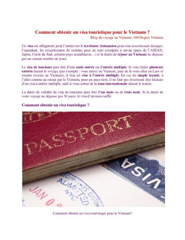 Comment obtenir un visa touristique pour le Vietnam ?                                                Blog du voyage au Vie...