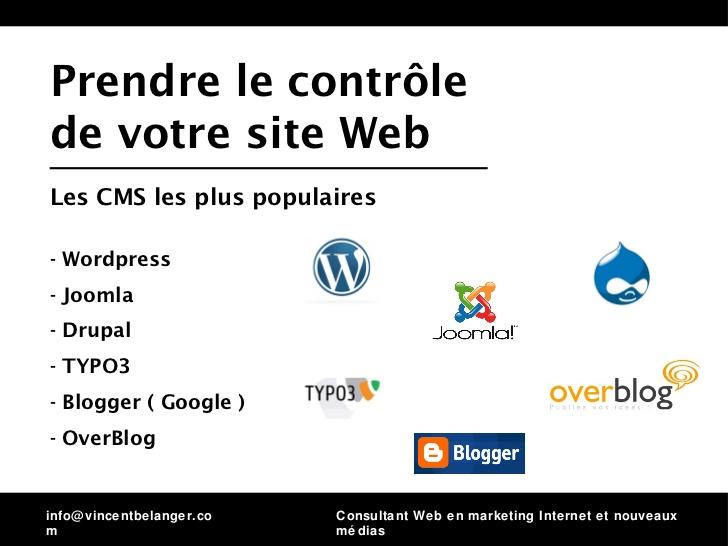 comment prendre le controle d'un site web