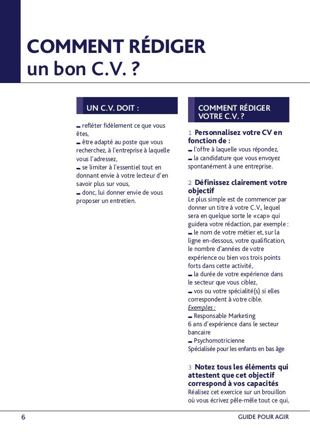 comment realiser un bon cv