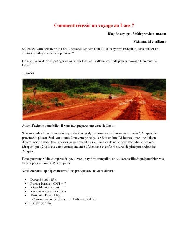 Comment réussir un voyage au Laos ?Blog de voyage – 360degresvietnam.comVietnam, ici et ailleursSouhaitez-vous découvrir l...