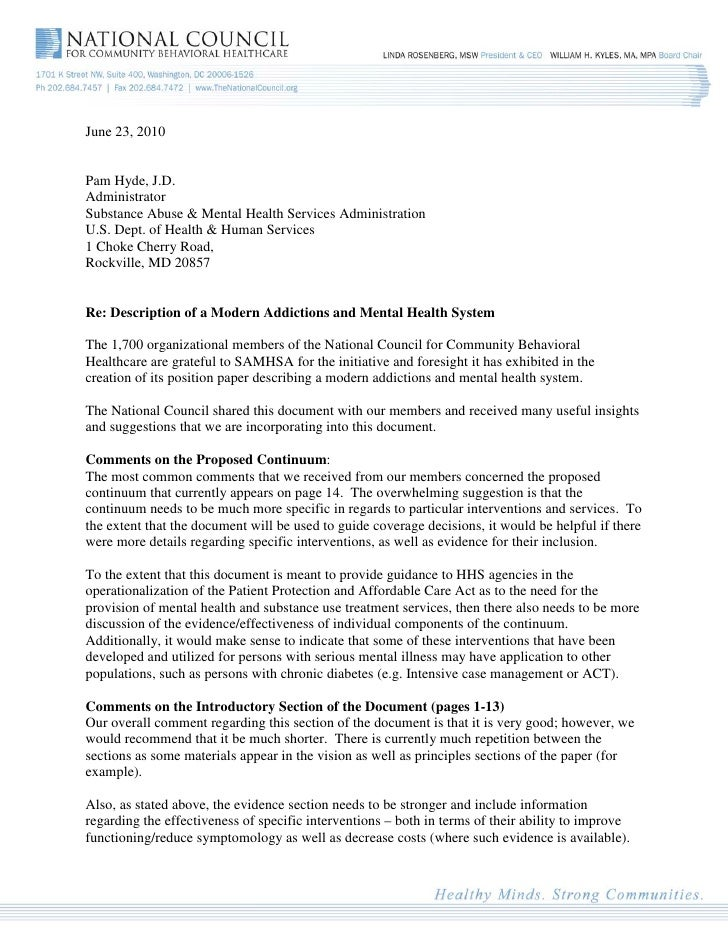 June 23, 2010   Pam Hyde, J.D. Administrator Substance Abuse & Mental Health Services Administration U.S. Dept. of Health ...