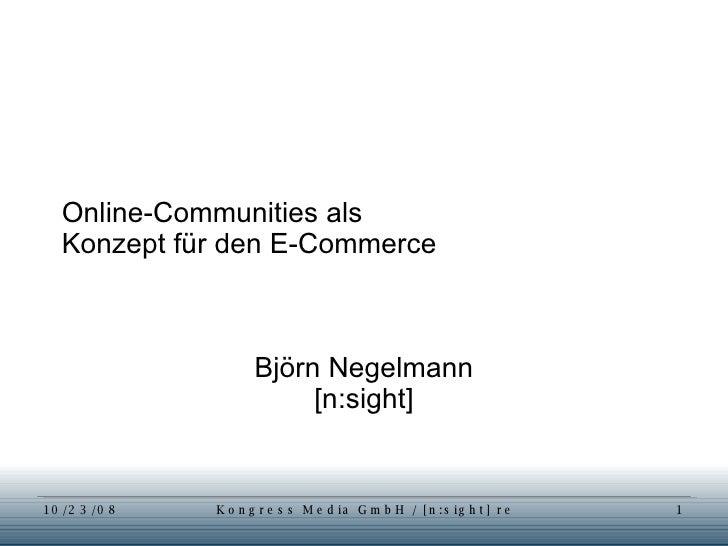 "Workshop ""Commerce Community"""