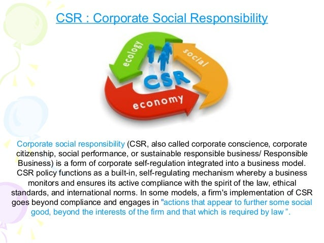 project on corporate social reponsibility Taylor project services llp (tps) has a socially responsible approach to all  aspects of its operations and the impact that these may have on the environment.