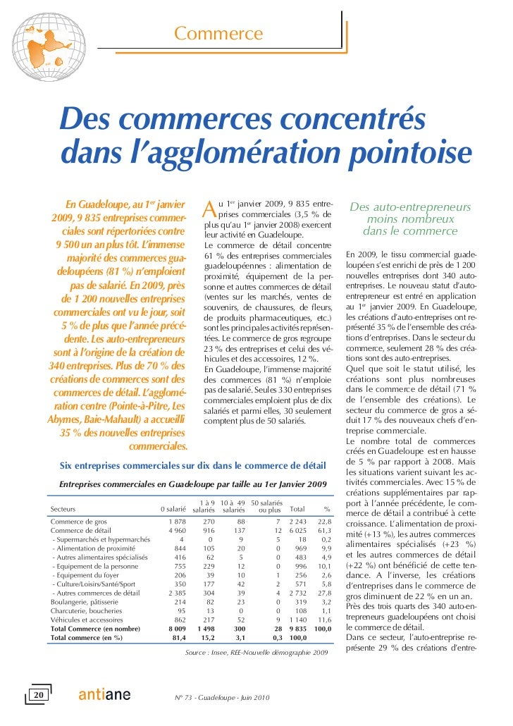 #Commerce #guadeloupe au 1er janvier 2009   insee
