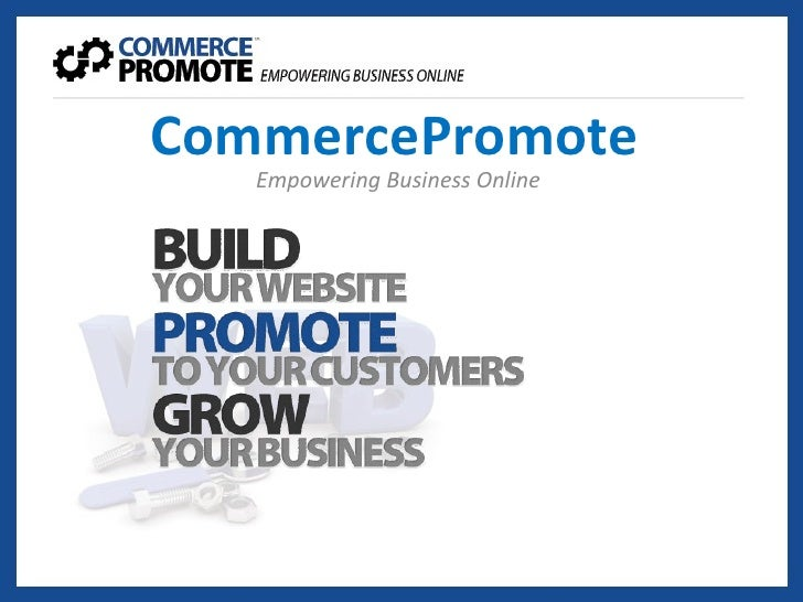 Commerce promotes sales presentation dated 3 May 2010