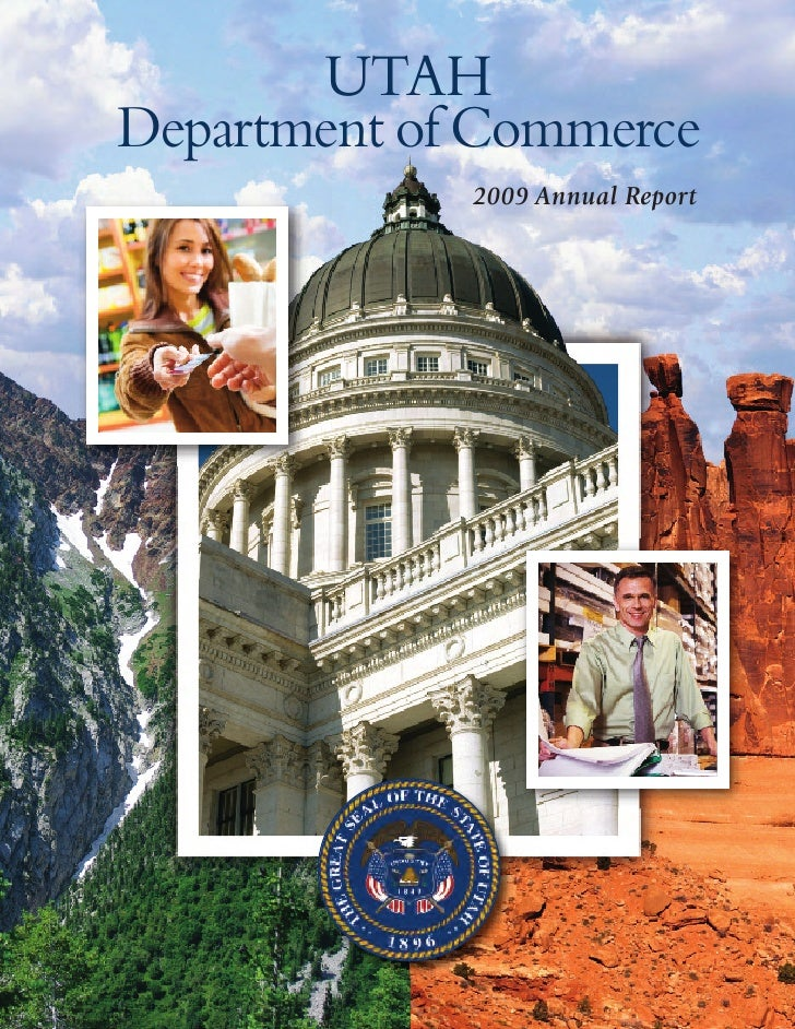 Utah Department of Commerce 2009 Annual Report