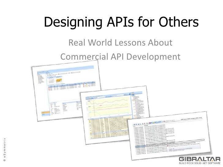 Designing APIs for Others<br />Real World Lessons About <br />Commercial API Development<br />