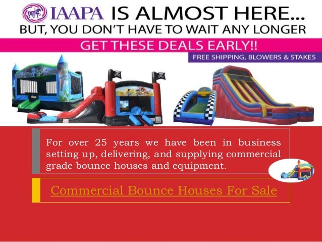 commercial bounce houses for sale used