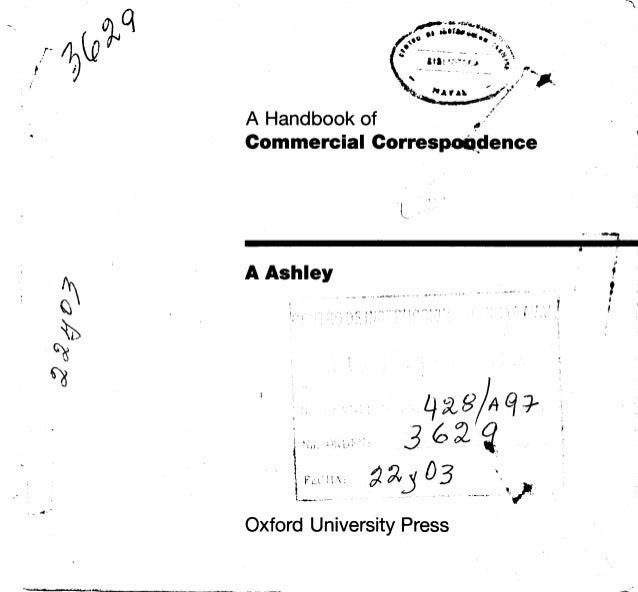 Commercial conrespondance