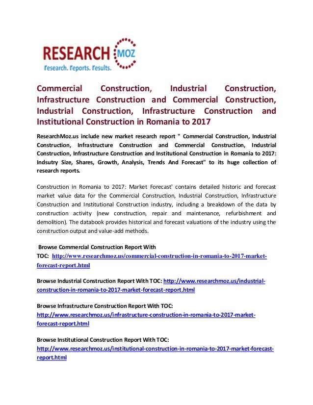 Commercial Construction, Industrial Construction, Infrastructure Construction and Commercial Construction, Industrial Cons...