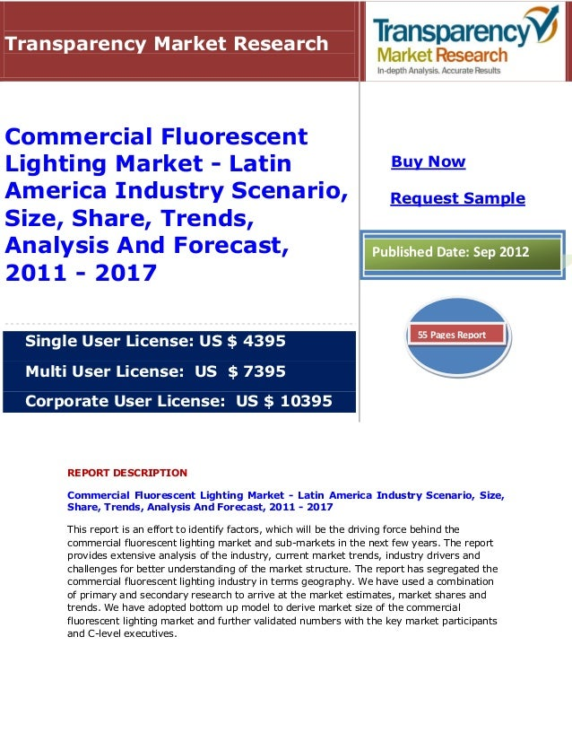 Commercial Fluorescent Lighting Market - Latin America Industry Scenario, Size, Share, Trends, Analysis And Forecast, 2011 - 2017