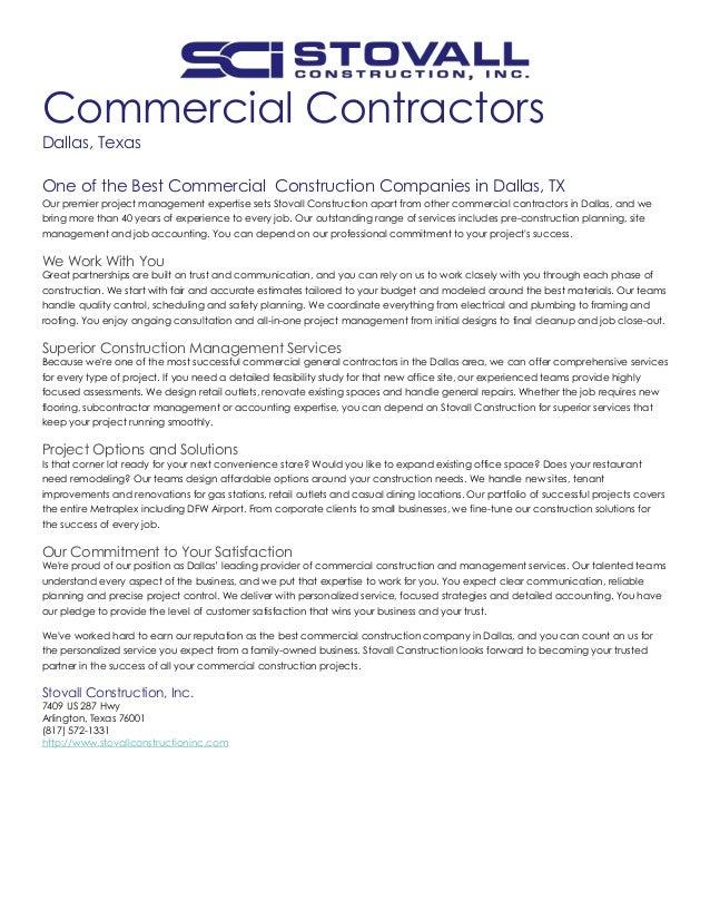Image.slidesharecdn.com/commercialgeneralcontracto...  Resume Companies