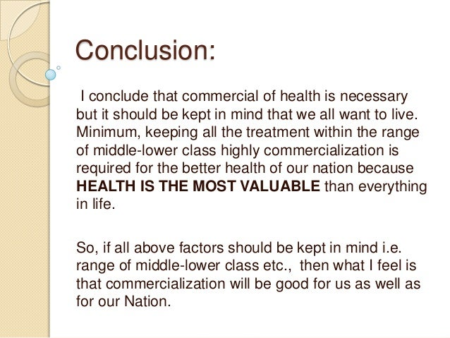 Essay on poor health services