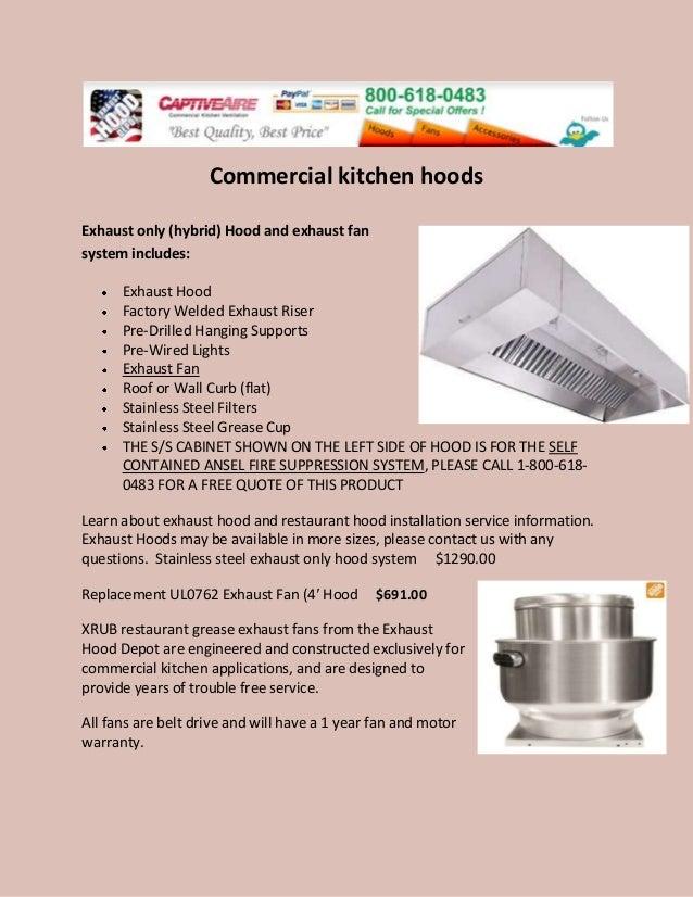 Commercial Kitchen Exhaust Hood Details ~ Commercial kitchen hoods