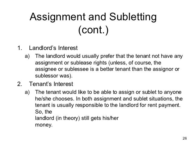 Assign lease