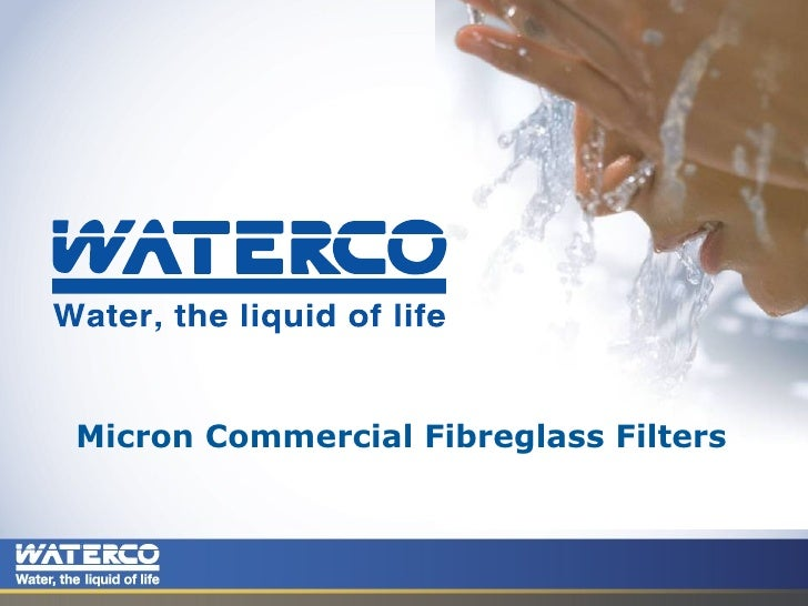 Commercial Micron Fibreglass Filters 20 01 09