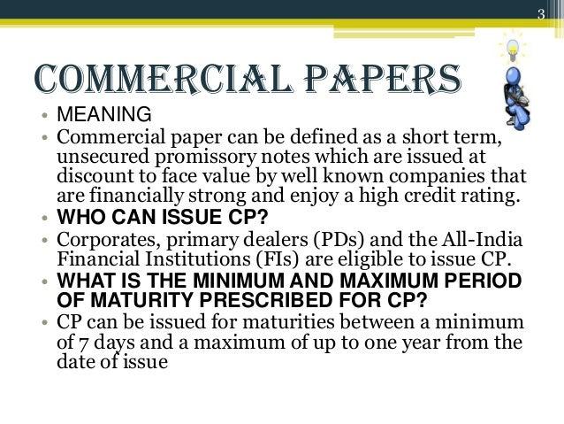 short term commercial paper market
