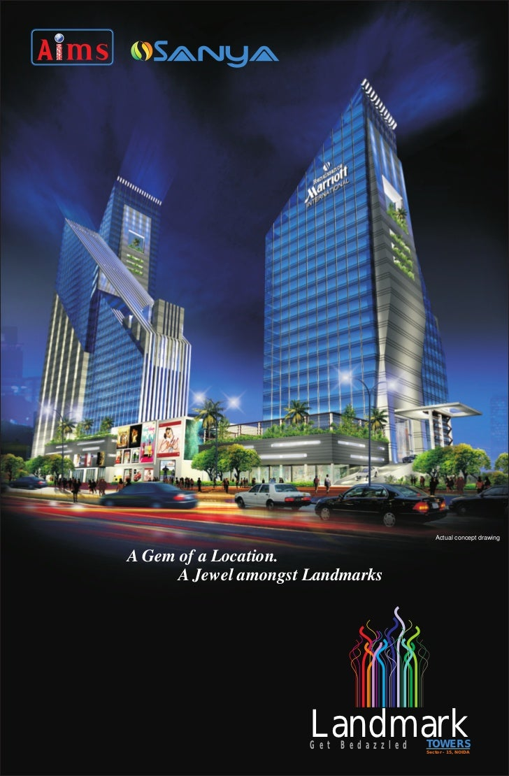 Landmark Towers Noida | Assured Return Property | CALL 09811822426 Landmark Towers,Landmark Towers Noida Sector - 15 ,On Spot Booking of Aims-Sanya-Group Commercial Property and Apartments,Landmark Towers, Landmark Towers Noida , Landmark Towers Sector 15