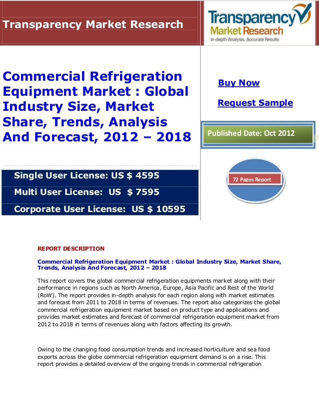 Transparency Market ResearchCommercial Refrigeration                                                Buy NowEquipment Marke...