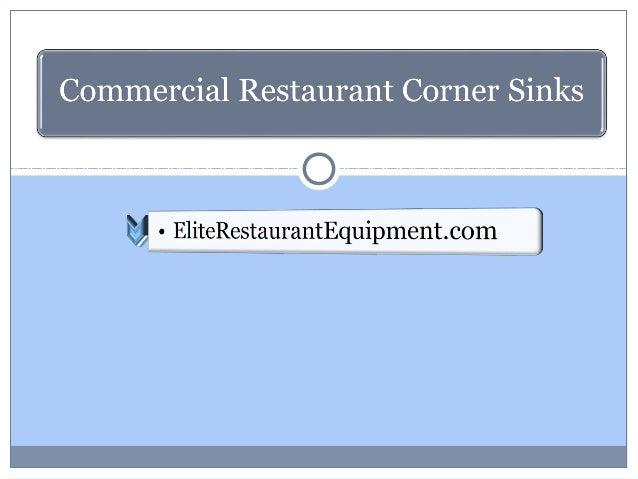 Commercial Restaurant Corner Sinks