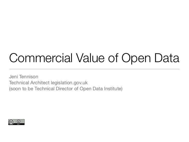 Commercial value of open data