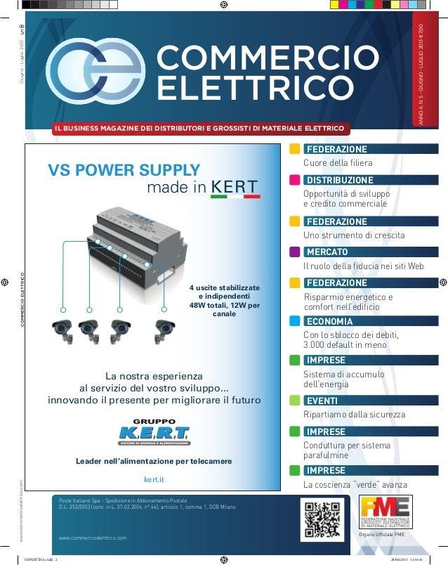 Commercio Elettrico giugno-luglio 2013