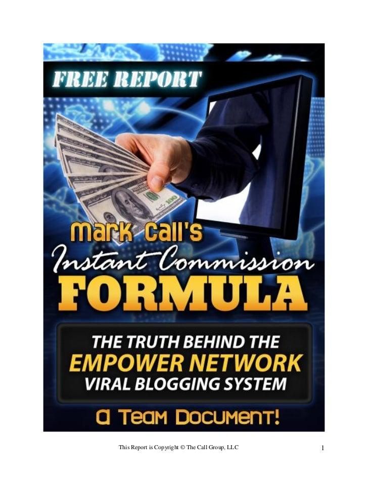 Commision formula viral bloggin system empower network futuriste iglesiasone