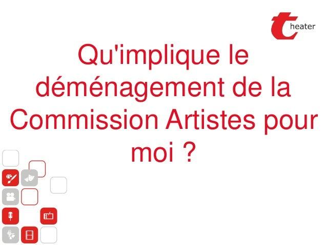 Qu'implique le déménagement de la Commission Artistes pour moi ?