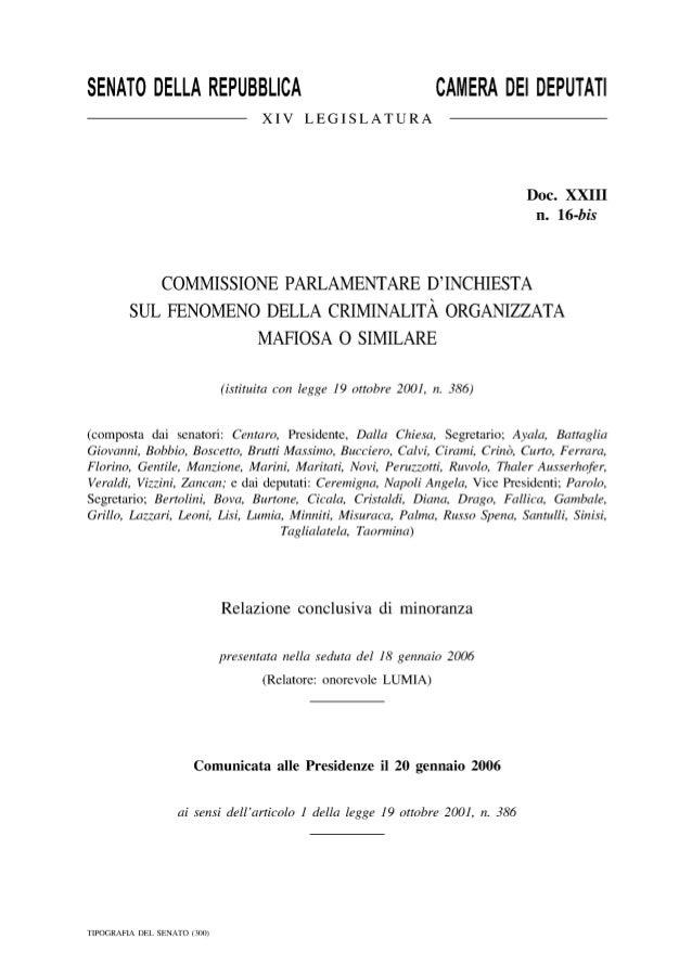 Commissione iparlamentare inchiesta sulla mafia 2005 lumia intero com