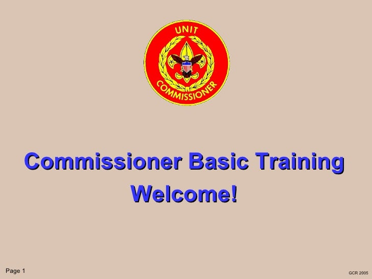 Commissioner basic part i - web