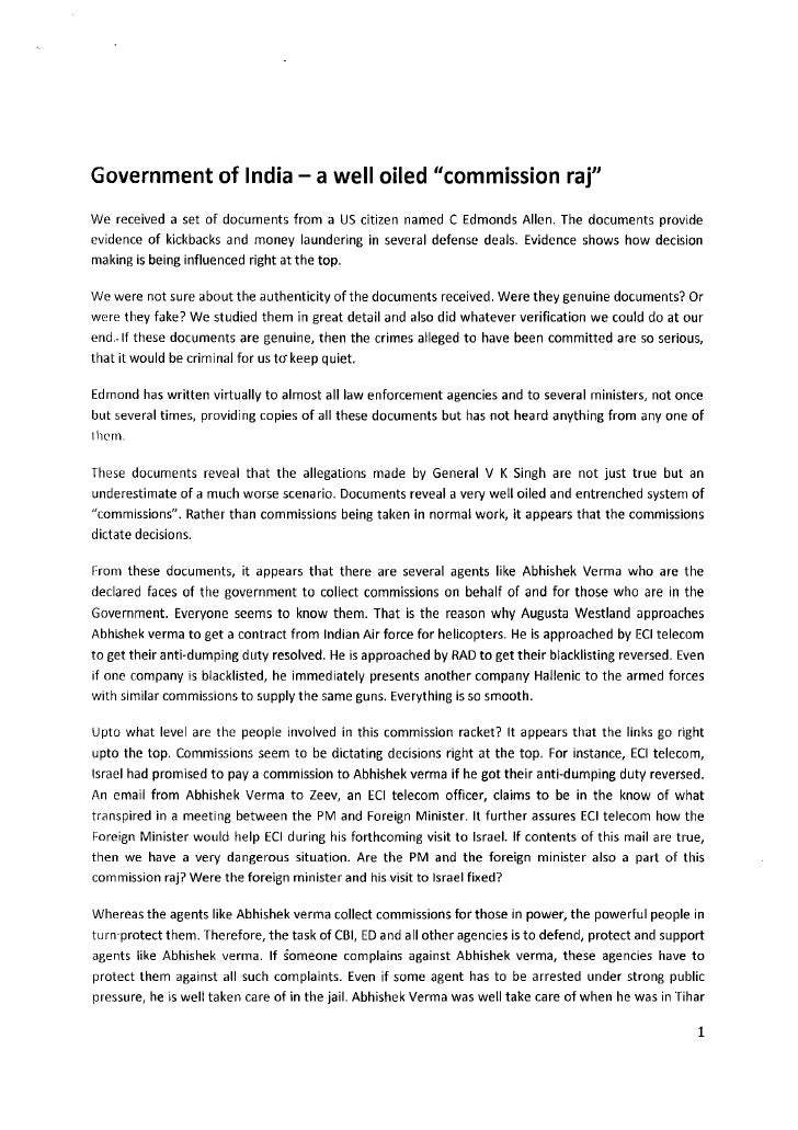 Commission in defence deals