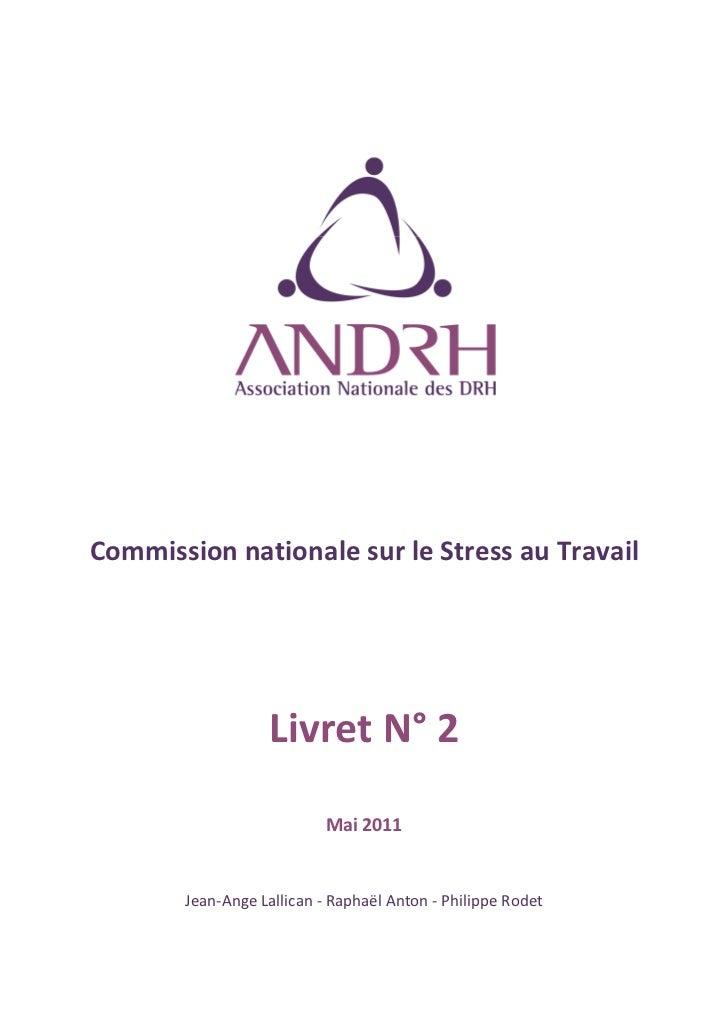 Commission nationale sur le stress au travail andrh   mai 2011