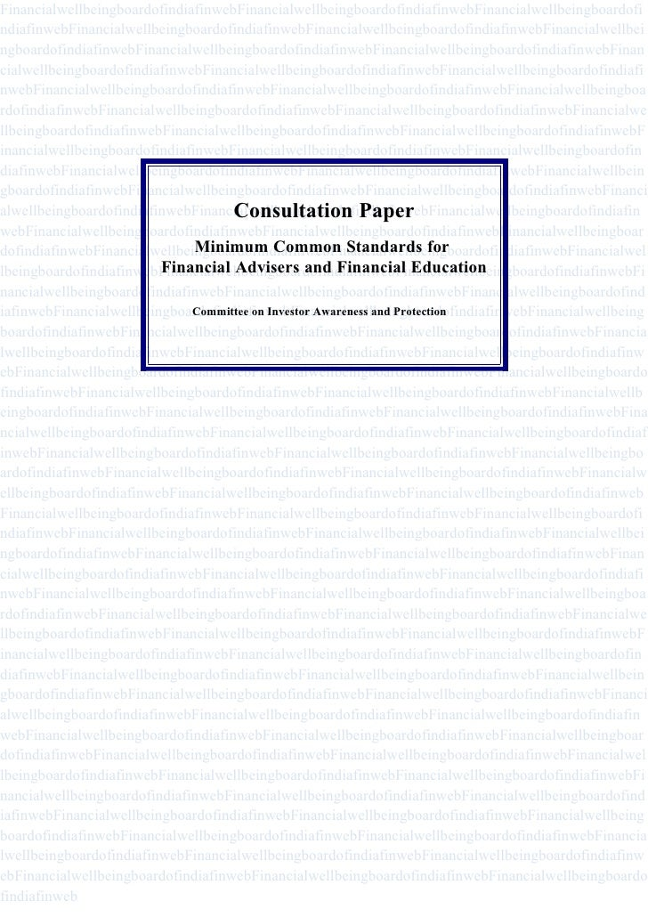 Committee On Investor Awareness & Protection(Report 2009)
