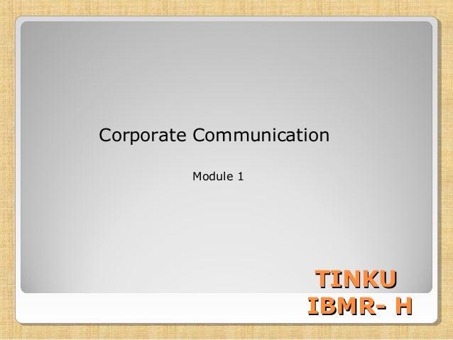 Commuication unit 1
