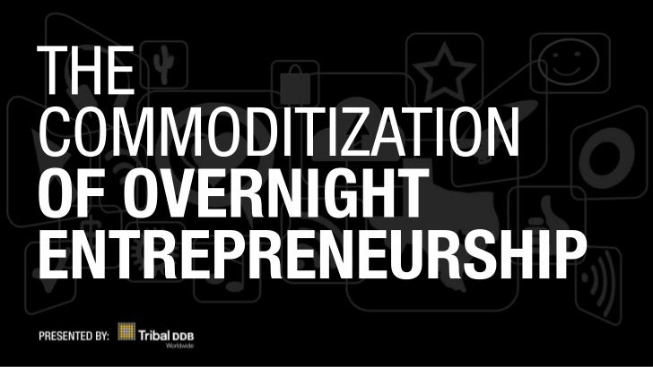 The Commodization of Overnight Entrepreneurship