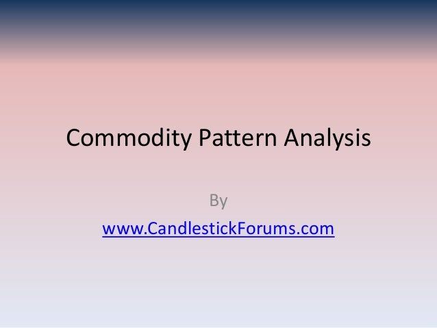 Commodity Pattern Analysis              By   www.CandlestickForums.com