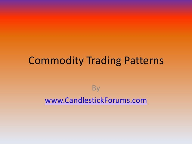 Commodity Trading Patterns